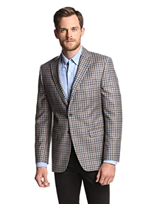 Simon Spurr Men's Checked 2-Button Sportcoat (Grey/Red)