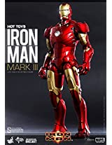 "Hot Toys Marvel Iron Man Iron Man Mark 3 Diecast 1/6 Scale 12"" Figure"