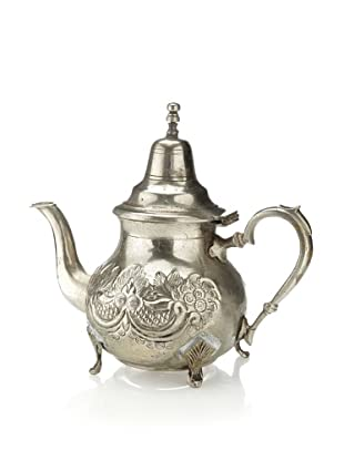 Found Objects Moroccan Tea Pot, Silver
