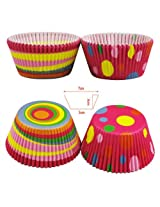 100pcs Colorful Circle Dot Chocolate Mold Cake Oiled Paper Cup