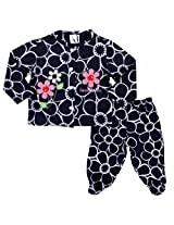 Carters Floral Print Top And Bottom Set With Bodysuit - Navy Blue (3 - 9 Months)