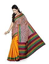ISHIN Bhagalpuri Silk Multicolour Saree