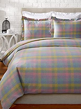 Belle Époque Heathered Flannel Plaid Duvet Set