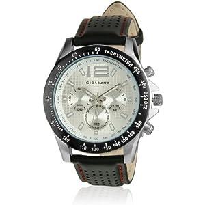 Giordano P9276 Black & White Men's Analog Watch