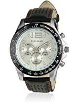 Giordano P9276 Black & White Men's Analog Watch