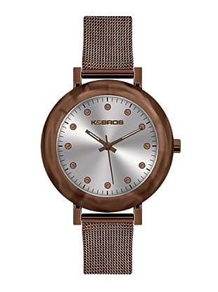 K&BROS 9183-3 / Reloj de Señora  con brazalete metálico marrón