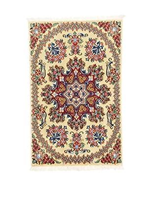 L'Eden del Tappeto Teppich Qom Sh beige/mehrfarbig 90t x t60 cm