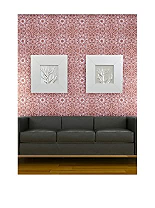Tempaper Designs Medallion Self-Adhesive Temporary Wallpaper, Berry, 20.5