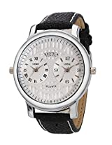 Exotica Analog White Dial Men's Watch (EF-87-Dual-White)