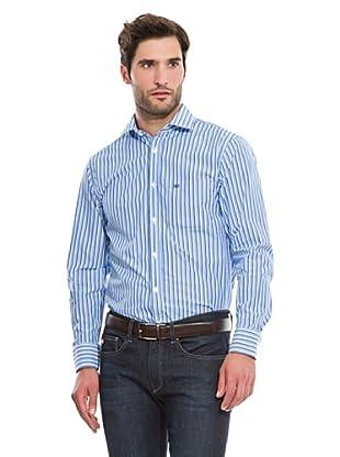 Pedro del Hierro Camisa Vestir Rayas (Azul)