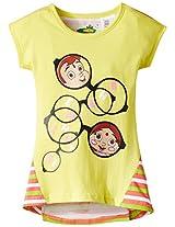 Chhota Bheem Girl's Cotton T-Shirt