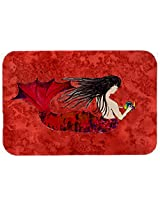 Caroline's Treasures 8726JCMT Haired Mermaid on Kitchen or Bath Mat, 24 by 36 , Multicolor