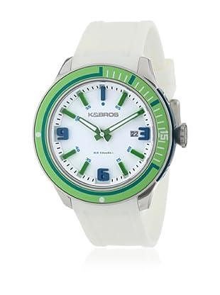 K&BROS Reloj 9487 (Blanco / Verde)