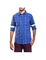 Urban Polo Club Blue Multicolored Shirt Extra Large- Full Sleeve