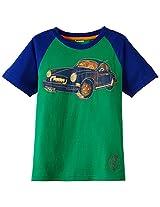 Unamia Boys Cotton Printed Green Half Sleeve Tshirt - Fba_300538
