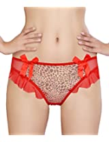 Glus Bables Frill Thong ,Size-Medium (Red)