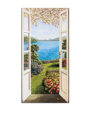 ArtopWeb Panel de Madera Del Missier Giardino Fiorito 50x100 cm