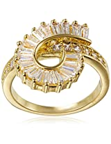 Shaze Ring for Women (Gold) (ROLLER COASTER RING GOLD 5275)