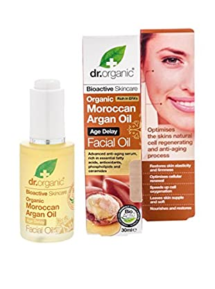 Dr Organic Olio Viso Moroccan Argan 30 ml