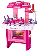 Berry Toys Fun Cooking Plastic Play Kitchen, Pink