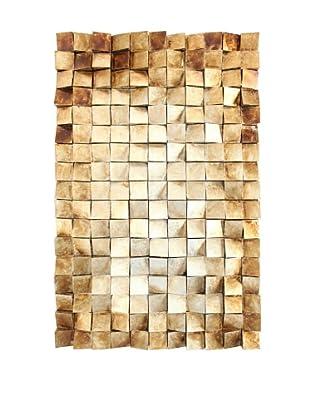 Wooden Tile Wall Art, Gold, 47