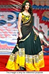 Bollywood Replica Model Viscose and Georgette Lehenga In Black and Yellow colour NC814