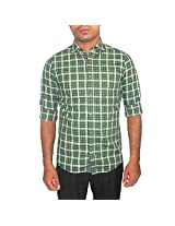 Scullers Men's Cotton Shirt (Green_42)