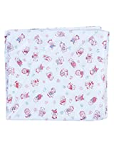 Stuff Jam White With Red Print Plastic Sheet - Double Xtra Large