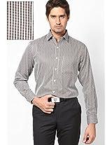 Brown Checks Formal Shirts