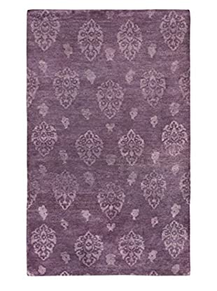 eCarpet Gallery One-of-a-Kind Hand-Knotted Royal Maroc Rug, Purple, 4' 10