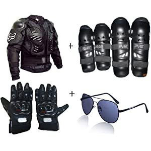 Combo Polo + Riding Jacket + Gloves + Kneegard