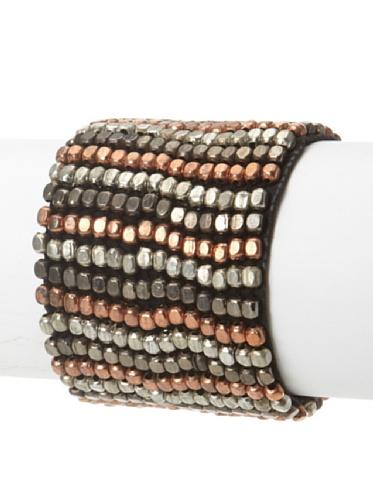 La Croix Rousse Beaded Bracelet, Copper/Multi