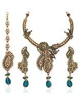 Variation Blue Wedding Austrian Diamond,Kundan Necklace Set [Jewellery]