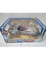 Hasbro Star Wars A New Hope Luke Skywalker And Landspeeder W/ Mobile Hovering Effect