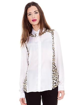 Just Cavalli Seidenbluse Leopard (Weiß)