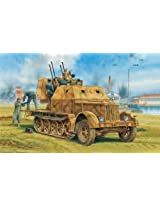 Dragon Models 1/35 Sd. Kfz. 7/1 2cm Flakvierling 38 with Armor Cab (2 in 1) Smart Kit