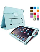 Snugg Leather Kick Stand Case for Apple iPad Air 2 - Baby Blue