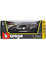 Bburago Lamborghini Sesto Elemento Scale-1:24 Die Cast Toy Car (Metallic Grey)