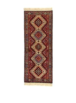L'EDEN DEL TAPPETO Alfombra Yalameh Rojo/Multicolor 81 x 204 cm