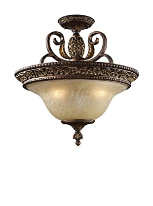 Trump Home Regency 3-Light Semi-Flush in Burnt Bronze