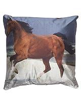 Twisha Horse Pillow 12 X 12 X 4 Inch