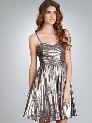 Naf Naf Vestido (gris metálico)