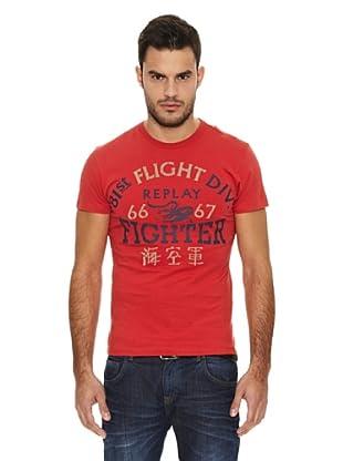 Replay Camiseta MC Letras (Rojo)