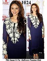 Bollywood Celebrity Aditi Rao In Blue Anarkali