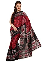 Parchayee Women's Synthetic Saree (94302C, Pink)