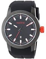 red line Men's RL-10016-BB-01 Gauge Analog Display Japanese Quartz Black Watch