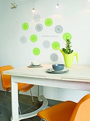 Ambiance Live Vinilo Adhesivo Modern Green Circles Polka Dots Multicolor
