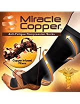2 PAIRS Miracle Copper Compression Socks Size L/XL
