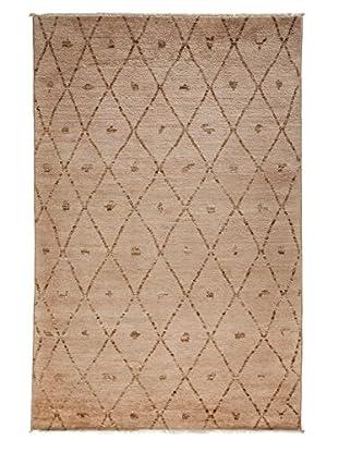 Darya Rugs Moroccan Oriental Rug, Beige, 6' 1