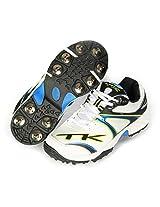 TK Mens Cricket Spike Shoe 12c003 (Blue-Lime) (IND / UK 11)